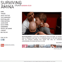 survivingamina.com - web, wordpress, documentary, film